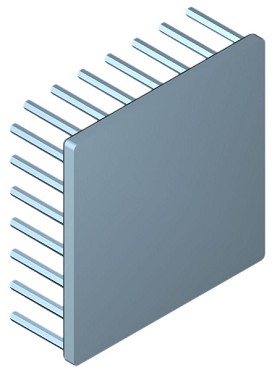 70 mm Square x 25 mm High Alpha Heat Sink - 2.85  °C/W
