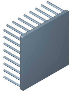 80 mm Square x 35 mm High Alpha Heat Sink - 2.0 °C/W
