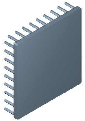 90 mm Square x 20 mm High Alpha Heat Sink - 2.5 °C/W