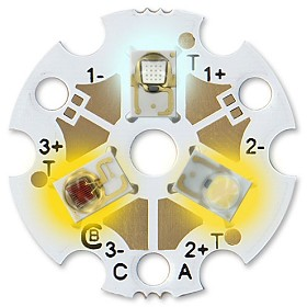 Predefined Tri-Star LED - Cool White (235 lm) / ANSI White (135 lm) / Amber (132 lm)