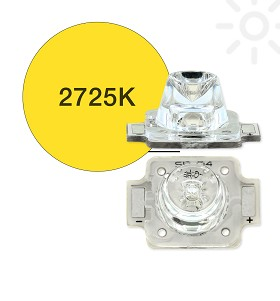 ANSI White (2725K) LUXEON A LED, Mounted on a 11.1 x 15.9 Rectangular CoolBase - 160 lm @ 700mA