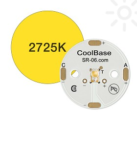ANSI White (2725K) LUXEON A LED, Mounted on a 25mm Round CoolBase - 160 lm @ 700mA