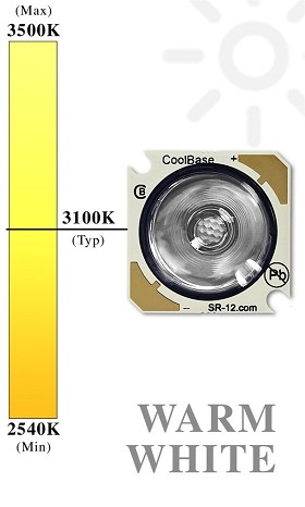 Warm White (3100K) Rebel Star/O Drop-In Replacement LED - 110 lm @ 700mA