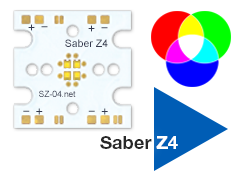 Saber Z4 - LUXEON Z 20mm Color Mixing Array