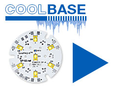 Order CoolBase FR4 7 LED round modules