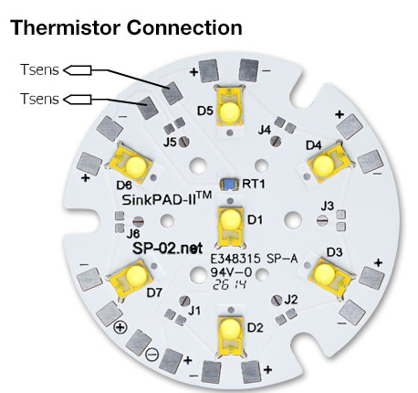SR-02 Thermistor Connection