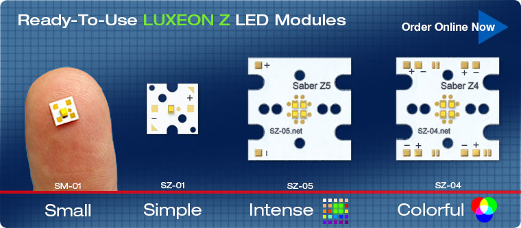 Ready-To-Use LUXEON Z LED Modules