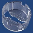 10237 - Carclo 20 mm Clear Round Optic Holder - Flat Bottom