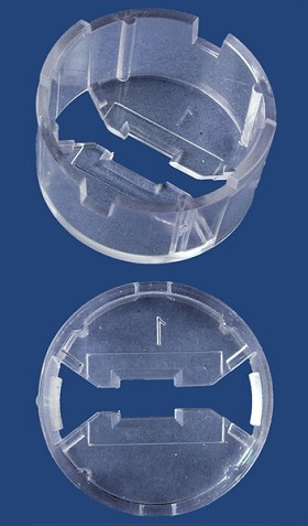 Carclo 20 mm Clear Round Optic Holder - Flat Bottom