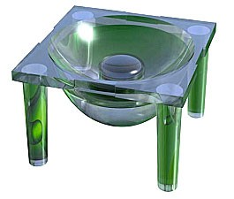 Carclo 29.8° Frosted 10 mm Circular Beam Optic - Integrated Legs
