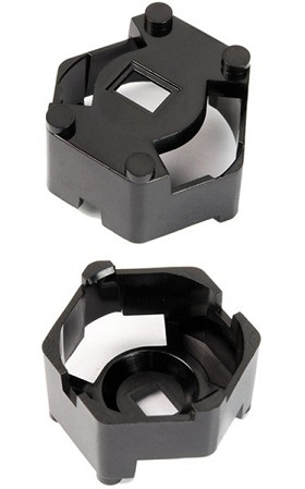 Carclo 20 mm Black Hex Optic Holder - Pegged Feet