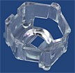 10432 - Carclo 20 mm Clear Hex Optic Holder - Pegged Feet