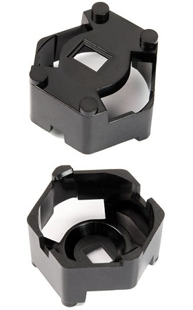 Carclo 20 mm Black Hex Optic Holder - Flat Bottom