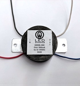 350mA Non-Dimmable PowerPuck DC Driver - With Leads