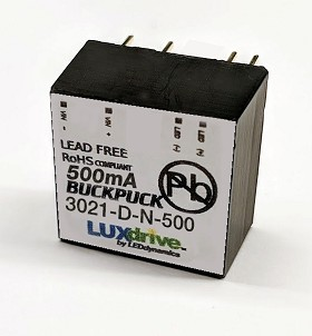500mA, Non-Dimmable, BuckPuck DC Driver - PCB Mount