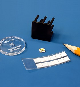 Pre-Cut, Thermal Adhesive Tape for 5 mm Square LED Assemblies - (12 Piece Sheet)