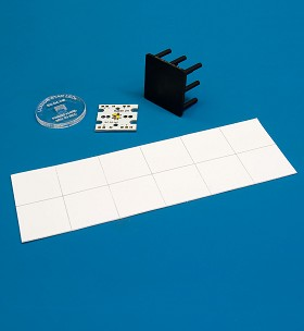 Pre-Cut; Thermal Adhesive Tape for 20 mm Square LED Assemblies - (12 Piece Sheet)