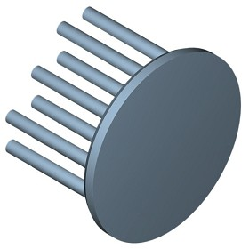 40 mm Round x 25 mm High Alpha Heat Sink - 8.6 °C/W