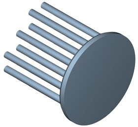 40 mm Round x 35 mm High Alpha Heat Sink - 7.4 °C/W
