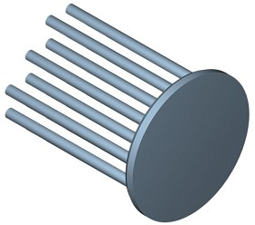 40 mm Round x 45 mm High Alpha Heat Sink - 6.5 °C/W