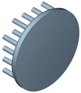 50 mm Round x 15 mm High Alpha Heat Sink - 8.3 °C/W