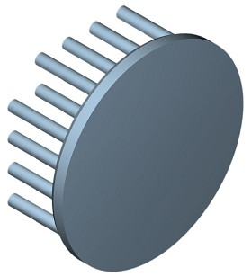 50 mm Round x 20 mm High Alpha Heat Sink - 7.3 °C/W