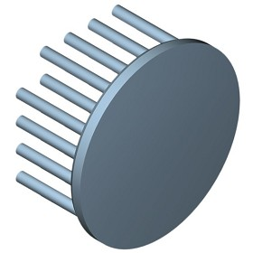 50 mm Round x 25 mm High Alpha Heat Sink - 6.6 °C/W