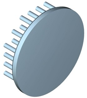 60 mm Round x 15 mm High Alpha Heat Sink - 6.5 °C/W