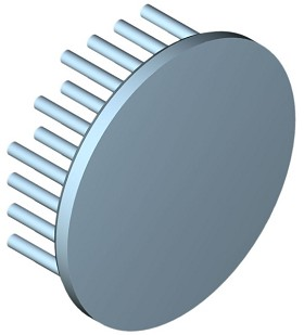 60 mm Round x 20 mm High Alpha Heat Sink - 5.8 °C/W