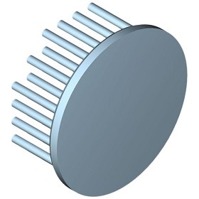 60 mm Round x 25 mm High Alpha Heat Sink - 5.3 °C/W