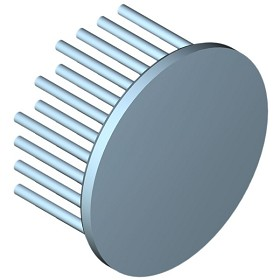 60 mm Round x 30 mm High Alpha Heat Sink - 4.8 °C/W