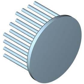 60 mm Round x 35 mm High Alpha Heat Sink - 4.4 °C/W