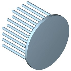 60 mm Round x 40 mm High Alpha Heat Sink - 4.1 °C/W