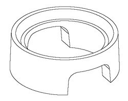 Lens Ring Spacer for Lambertian Star I & Emitter I; III and V LEDs