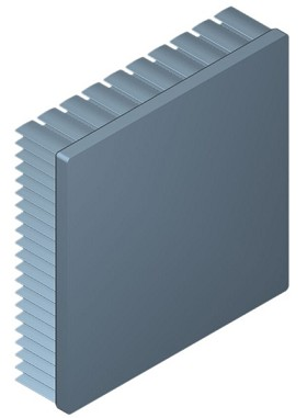 100 mm Square x 25 mm High Alpha Heat Sink - 2.15 °C/W