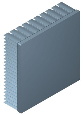 100 mm Square x 30 mm High Alpha Heat Sink - 2.0 °C/W