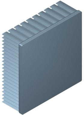 100 mm Square x 35 mm High Alpha Heat Sink - 1.85 °C/W