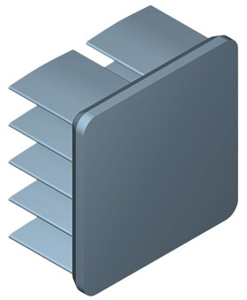 19 mm Square x 10 mm High Alpha Heat Sink - 21.1 °C/W