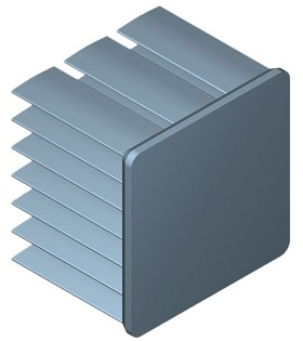 25 mm Square x 20 mm High Alpha Heat Sink - 13.7 °C/W