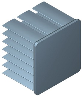 25 mm Square x 25 mm High Alpha Heat Sink - 12.2 °C/W