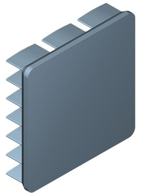 25 mm Square x 6 mm High Alpha Heat Sink - 19.9 °C/W