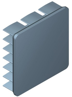 25 mm Square x 7 mm High Alpha Heat Sink - 19.1 °C/W