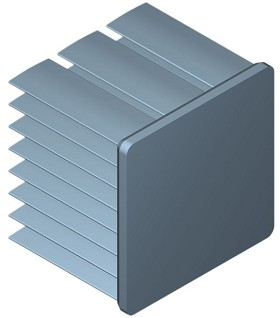 30 mm Square x 25 mm High Alpha Heat Sink - 10.1 °C/W