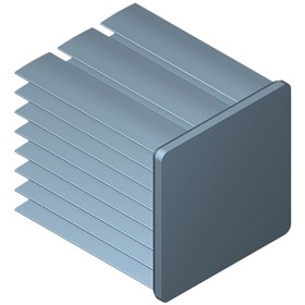 30 mm Square x 35 mm High Alpha Heat Sink - 8.6 °C/W