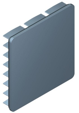 30 mm Square x 5 mm High Alpha Heat Sink - 17.8 °C/W