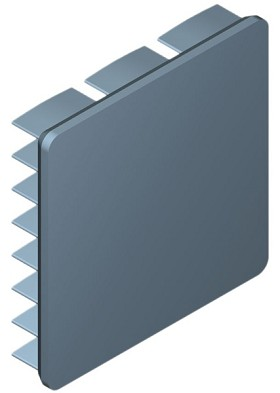 30 mm Square x 6 mm High Alpha Heat Sink - 17.0 °C/W