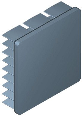 35 mm Square x 10 mm High Alpha Heat Sink - 12.4 °C/W