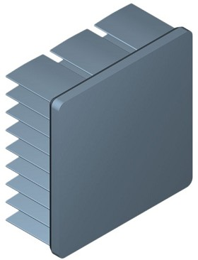 35 mm Square x 15 mm High Alpha Heat Sink - 10.6 °C/W