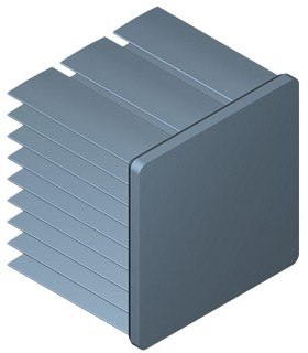 35 mm Square x 30 mm High Alpha Heat Sink - 7.7 °C/W