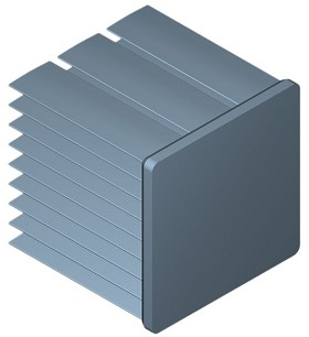 35 mm Square x 35 mm High Alpha Heat Sink - 7.0 °C/W
